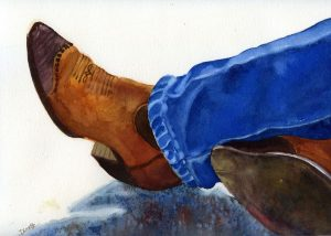 Cool Hand's Boots 11X15 Watercolor $395