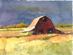 Golden Afternoon 11X15 Watercolor $395
